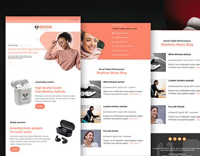 Editable MailChimp Newsletter Email Template Design