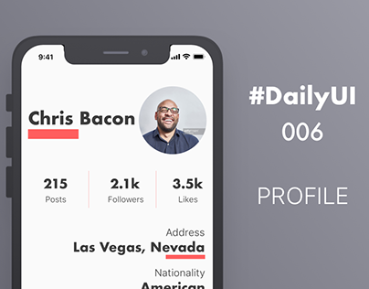 #DailyUI 006 - User Profile