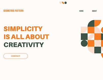 Geometric Shapes in Website UI Design