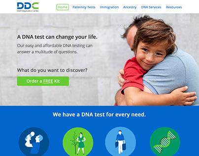 DNA Diagnostics Center Website Redesign