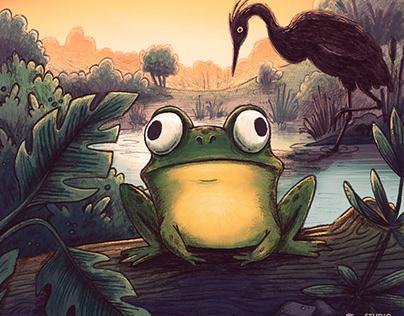 Around the Pond: My first KidLit Postcard