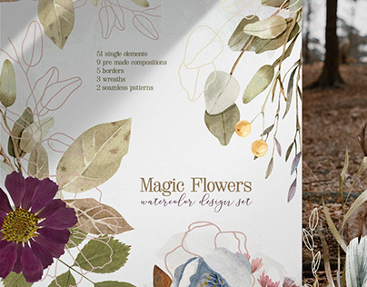 Magic Flowers - Watercolor Collection