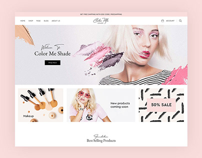 Beauty Shopify Section Theme Design