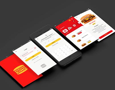 Telas APP Burger King - Mini curso Adobe XD