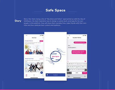 Safe Space - Social App Freebie