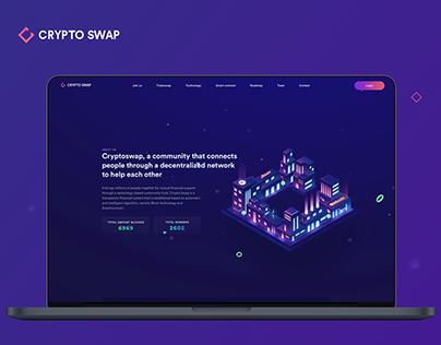 Cryptoswap - Landing Page Design