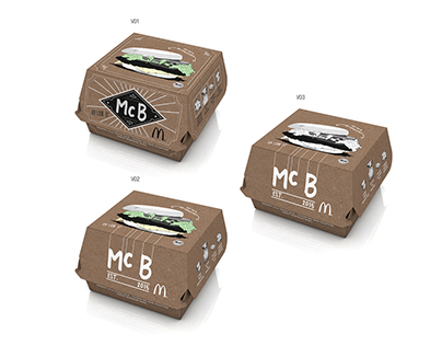 Mc Donald`s: Mc B Packaging Layouts