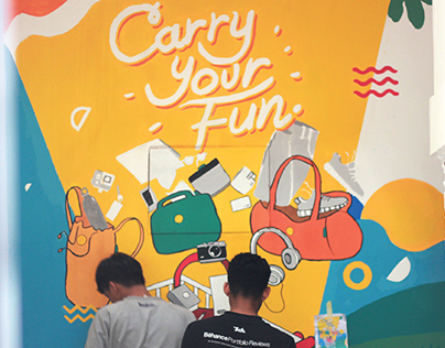 Carry Your Fun Wall at NIION Indonesia Showroom