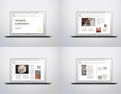 E-Publication for the material experiment