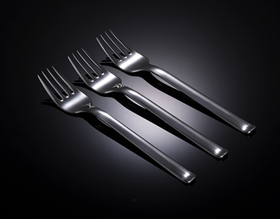 Product photography - Metallic forks