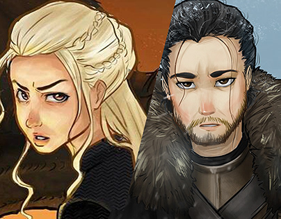 [Illustration] A Song of Ice and Fire - Jon & Daenerys