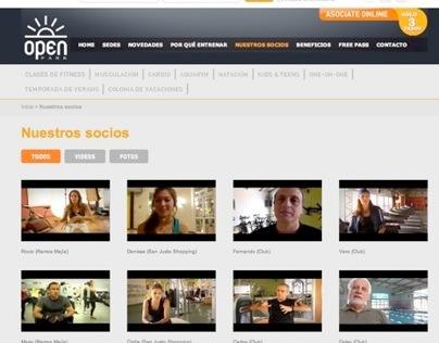 Sitio web Open Park / La Propa