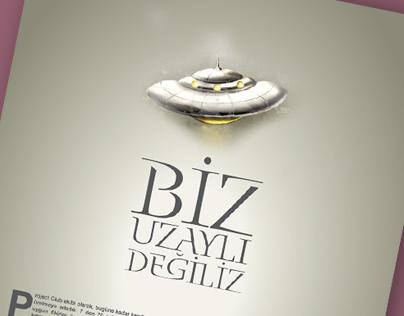 Project Club afiş tasarımı...