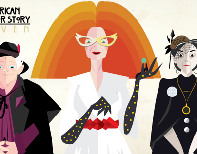 American Horror Story coven minimalist posters