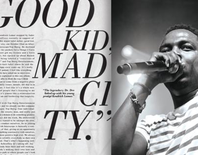 Kendrick Lamar: Compton's Finest (Editorial Design)