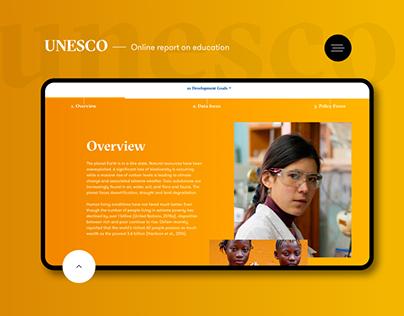 UNESCO: Online report on education