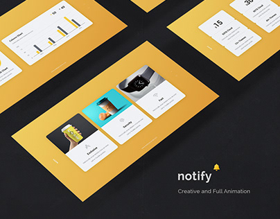 notify - creative animtated template