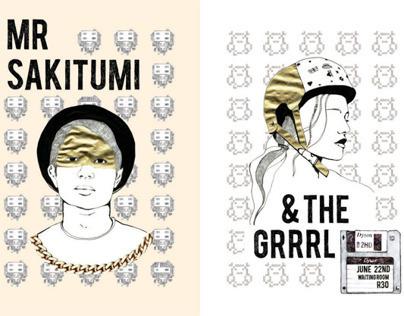 Mr Sakitumi and the Grrrl music poster