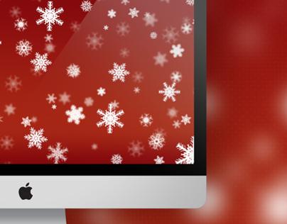 Christmas Snowflakes Wallpaper for Mac/PC