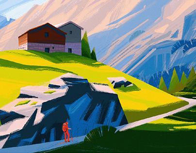 Digital Art: Views and Landscape Illustrations