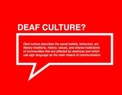 Non profit. Deaf culture