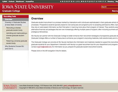 Graduate Student Recruiting Website