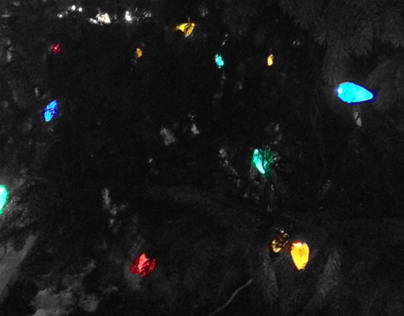 Selective Color: Christmas Tree