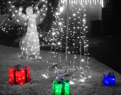 Selective Color: Christmas Presents