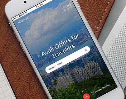 Travolize iOS App UI/UX Design