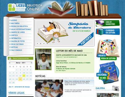 Projeto, desenho e montagem Biblioteca Colégio Liceu
