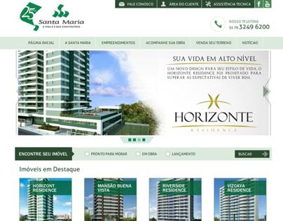 Projeto, desenho e montagem site Contrutora Santa Maria