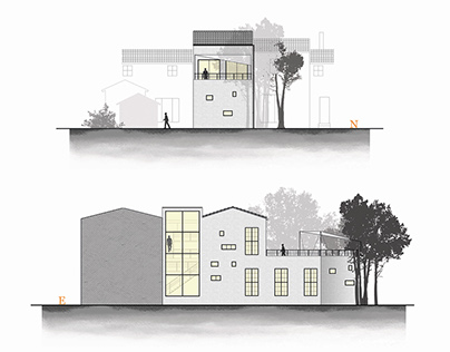 A skinny house project