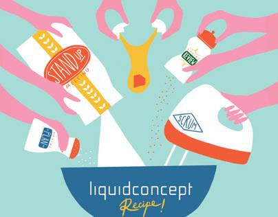 Liquid Concept Web Agency Illustrations