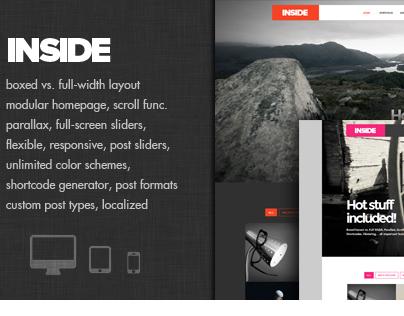 Inside - Creative Parallax and Scroll Theme