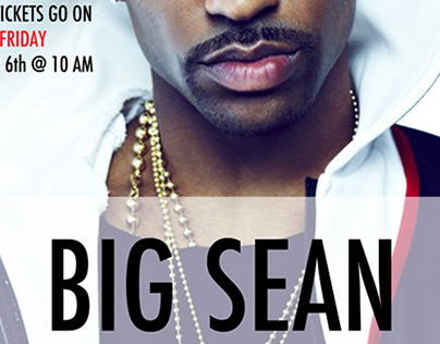 Big Sean at Jorgensen Center // Poster
