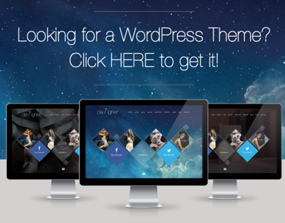 De7igner - Flat iOS7 Inspired OnePage Parallax WP Theme
