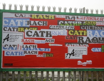 My billboard design for IMRAM (Irish Language Festival)