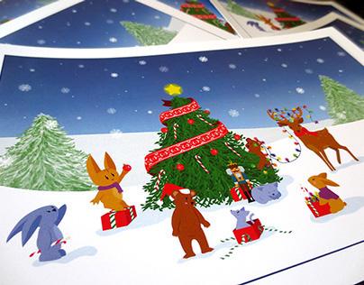 Polar fantasy | Christmas card
