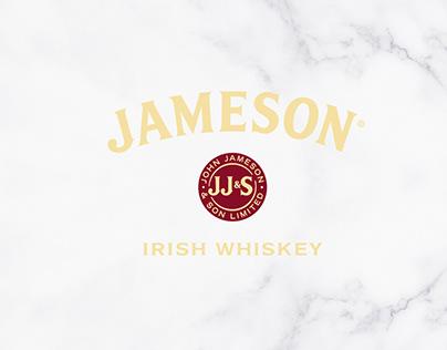 Jameson Irish Whiskey Inviation & Menu Design