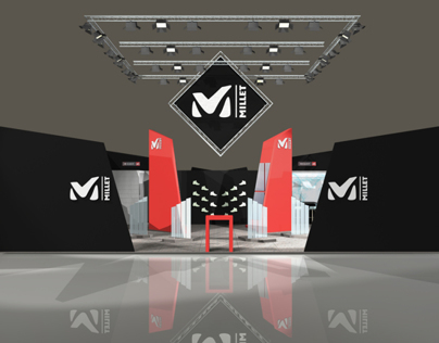 3D works : Millet SA - trade show booth project 2011