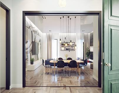 Soggiorno Moderno - Modern living room design-Milan on Behance