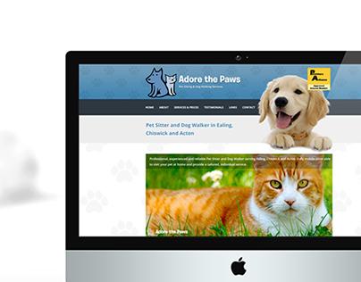 Adore the Paws - Website Design