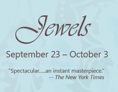"""Jewels"" banner for Houston Ballet website"