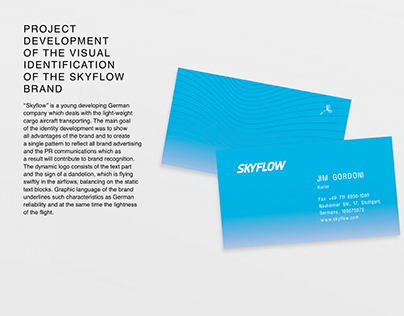 Visual identity of Skyflow brand (Olsh agency)
