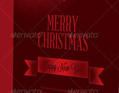 Christmas Star Greeting Card Template