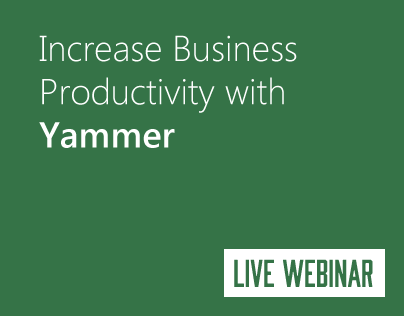 Increase Business Productivity with Yammer: Email Blast