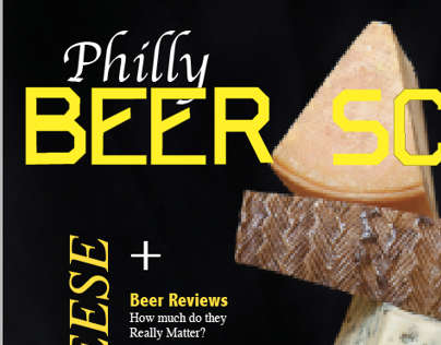 beer scene with typography FONT