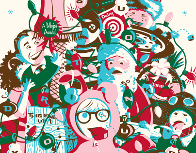 A CHRISTMAS STORY print for Gallery 1988's Crazy 4 Cult