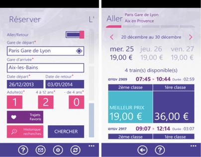 Conception UX/UI iDTGV Windows Phone 8 app 2.0