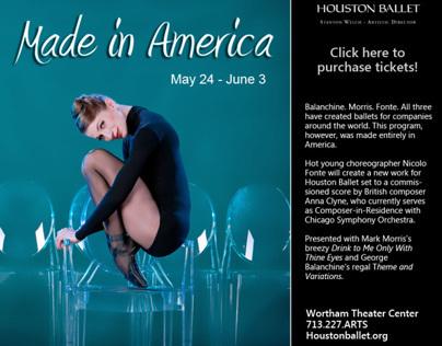 Houston Ballet's Made in America annoucement